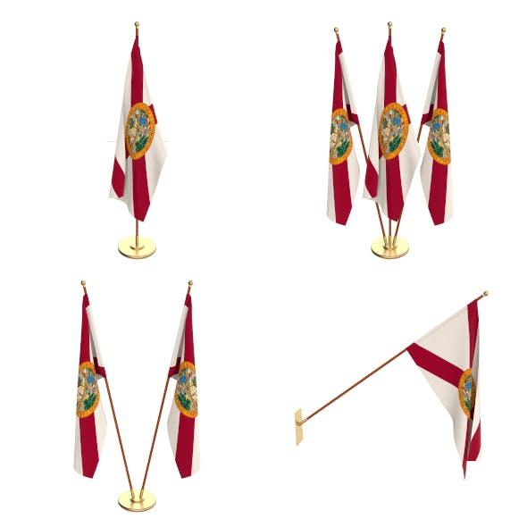 Florida Flag Pack - 3DOcean Item for Sale