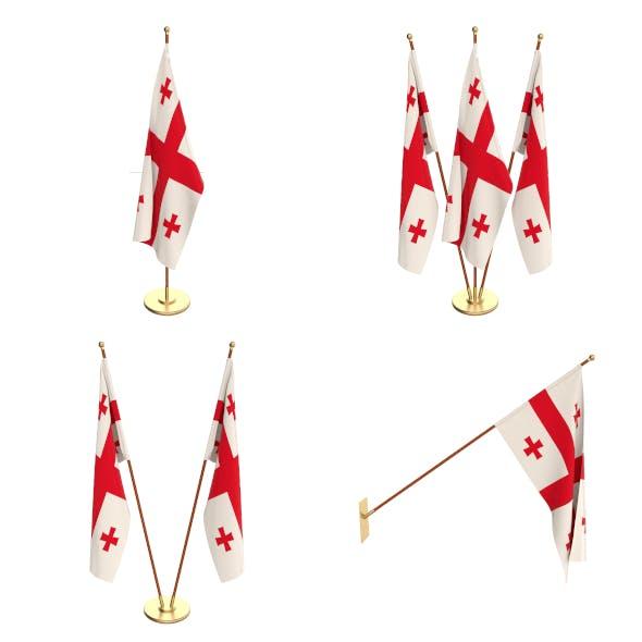 Georgia Flag Pack - 3DOcean Item for Sale