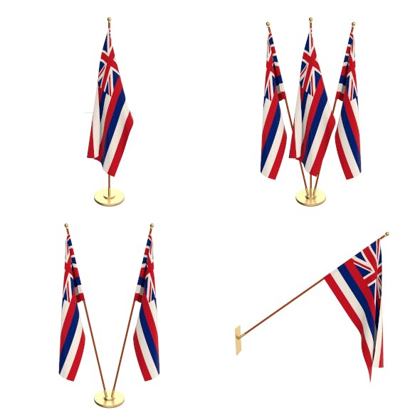 Hawaii Flag Pack - 3DOcean Item for Sale