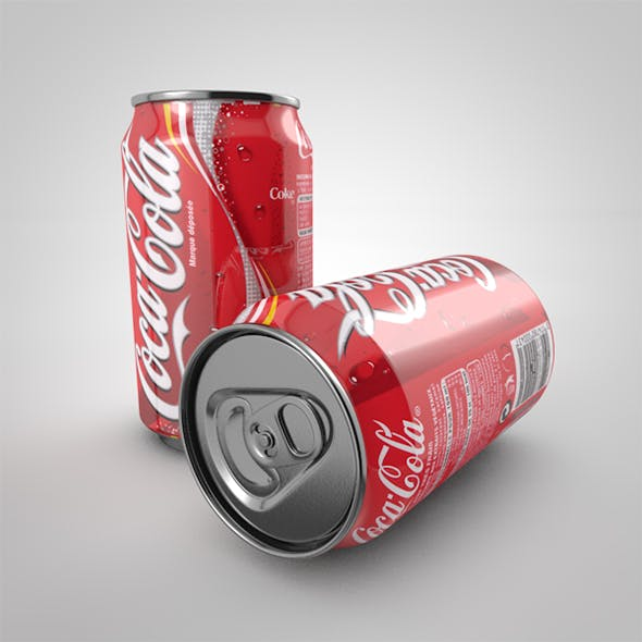 3D Can Model / Cocacola
