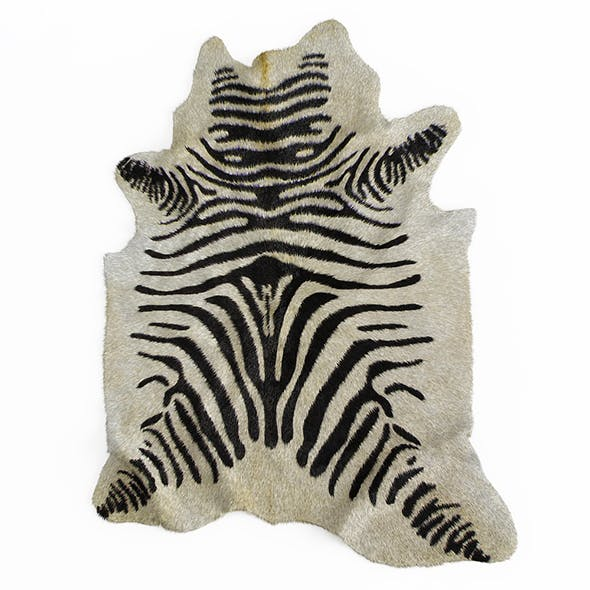 Zebra rug 03 - 3DOcean Item for Sale
