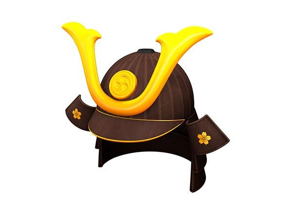 Samurai Helmet - 3DOcean Item for Sale