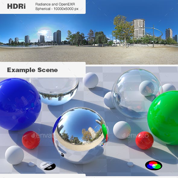 HDRi 001 - Exterior - Clear Sky + Backplates