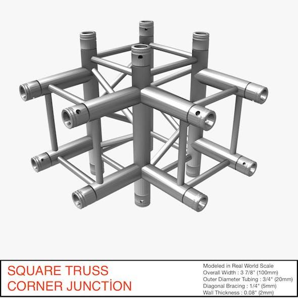 Square Truss Corner Junction 44