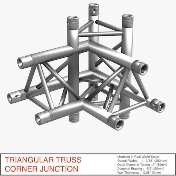 Triangular Truss Corner Junction 102 - 3DOcean Item for Sale