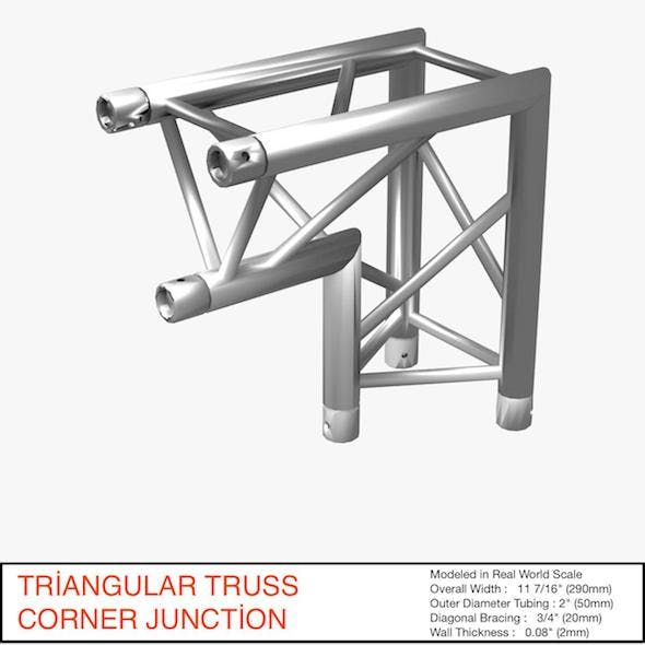 Triangular Truss Corner Junction 107 - 3DOcean Item for Sale