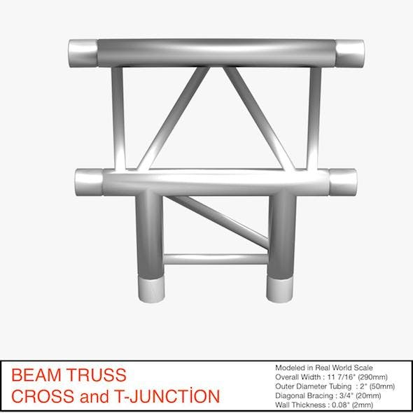Beam Truss Cross and T Junction 134 - 3DOcean Item for Sale