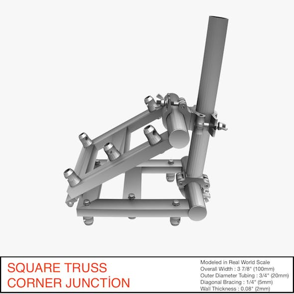 Square Truss Corner Junction 36