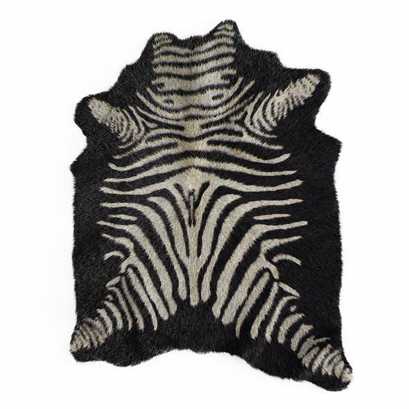 Zebra rug black 4 - 3DOcean Item for Sale