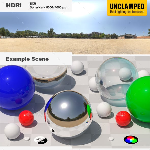 HDRi 009 - UNCLAMPED Exterior - Clear Sky + Backplates