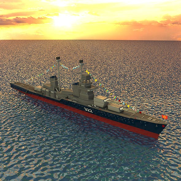 Cruiser Kirov - 3DOcean Item for Sale