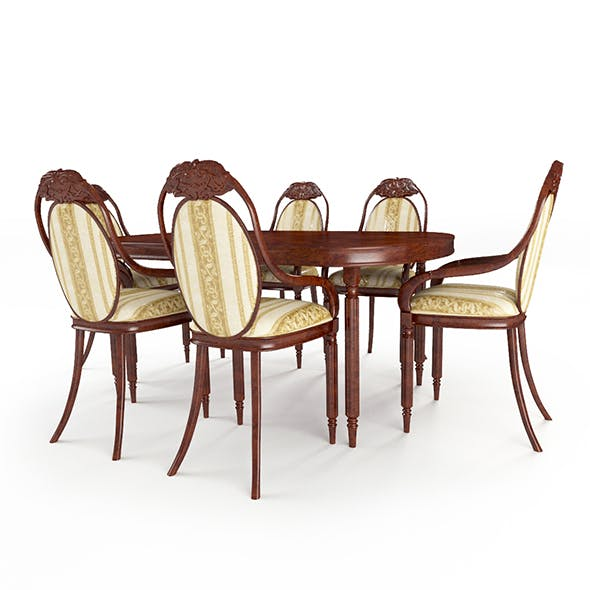 table_chairs_set_148 - 3DOcean Item for Sale