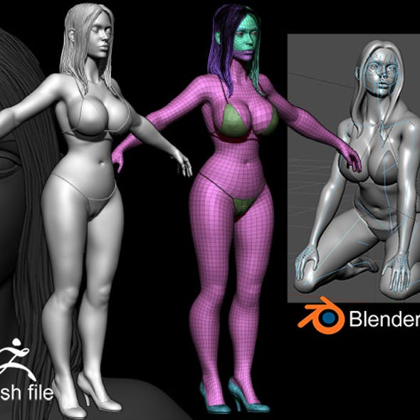 Zbrush Female 3D Sculpture