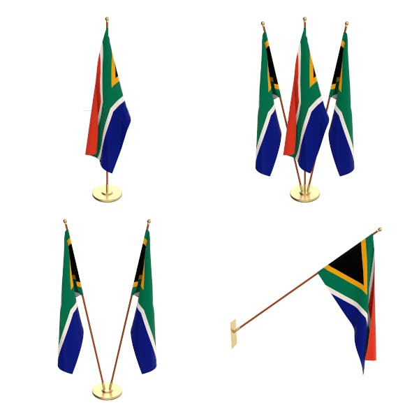South Africa Flag Pack - 3DOcean Item for Sale