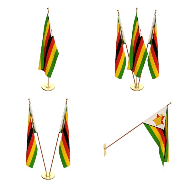 Zimbabwe Flag Pack - 3DOcean Item for Sale
