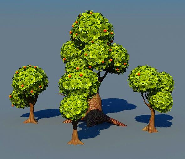 Cartoon TREE - 3DOcean Item for Sale