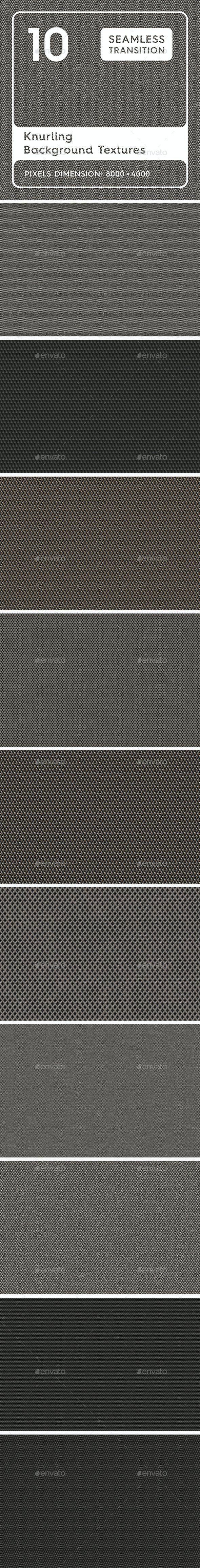 10 Knurling Background Textures - 3DOcean Item for Sale
