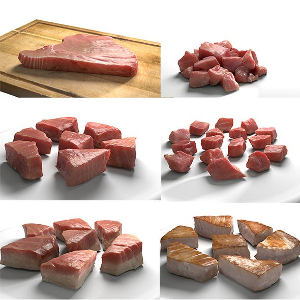 Tuna Meat Pack - Steak, Raw, Cooked, Chopped