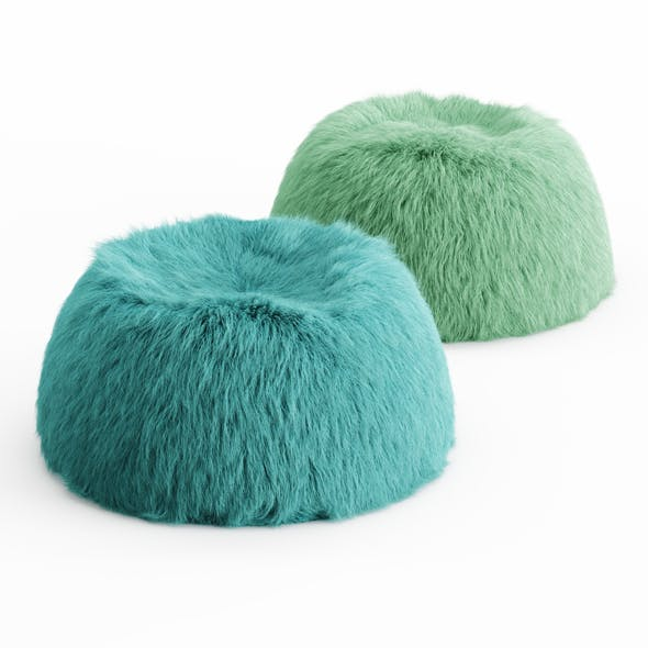 Two Himalayan Faux-Fur Beanbag - 3DOcean Item for Sale
