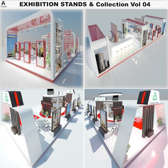 Exhibition Stands Collection - 3DOcean Item for Sale