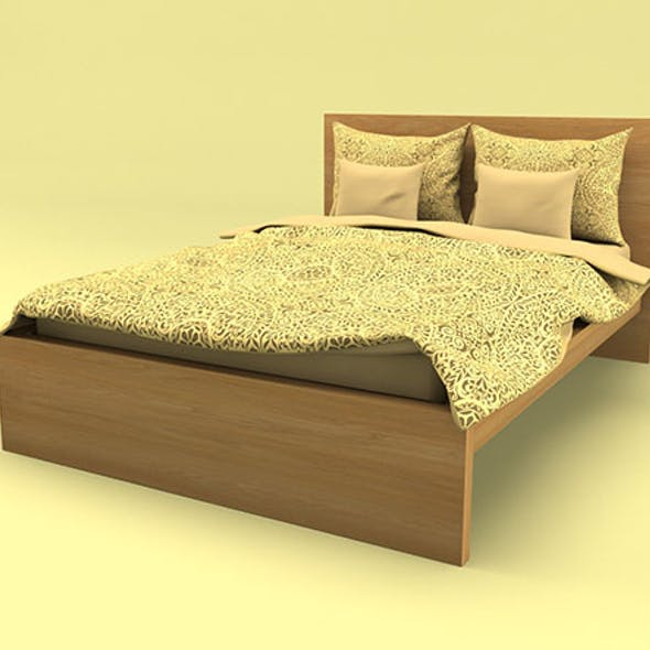 Ikea MALM bed 3D model Low-poly