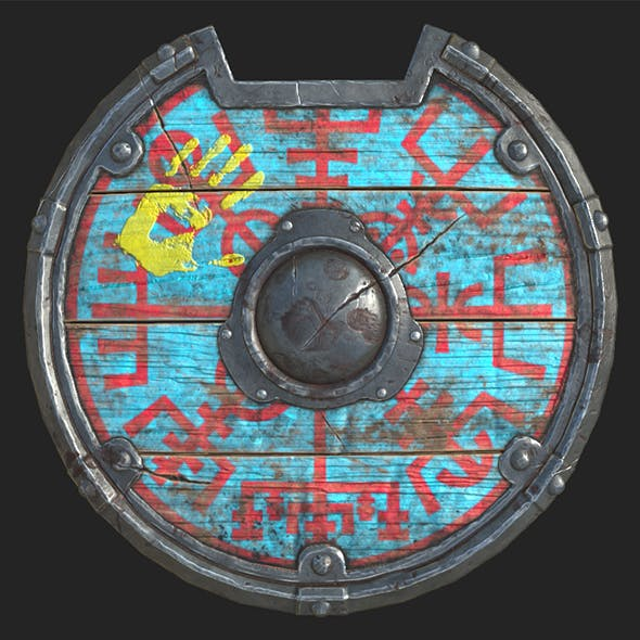 viking shield 4 texture set - 3DOcean Item for Sale