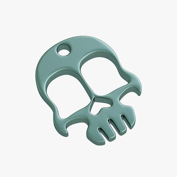 Knuckles skull keychain - 3DOcean Item for Sale