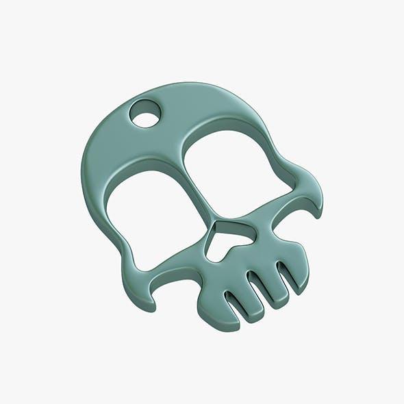 Knuckles skull keychain