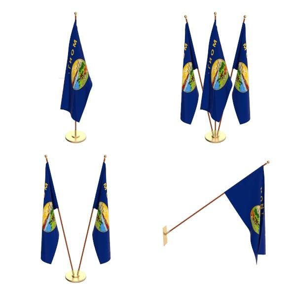 Montana Flag Pack - 3DOcean Item for Sale