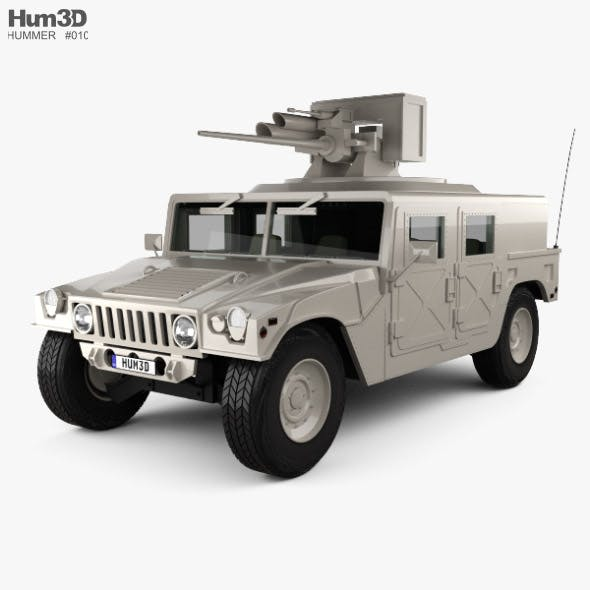 Hummer H1 M242 Bushmaster with HQ interior 2011 - 3DOcean Item for Sale