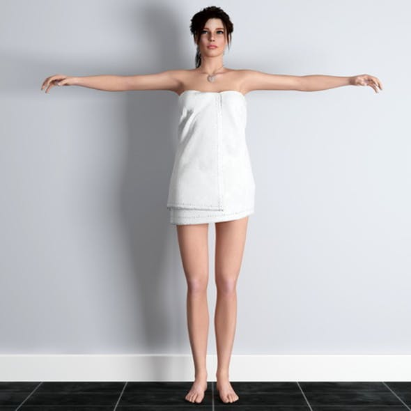 rigged girl in towel