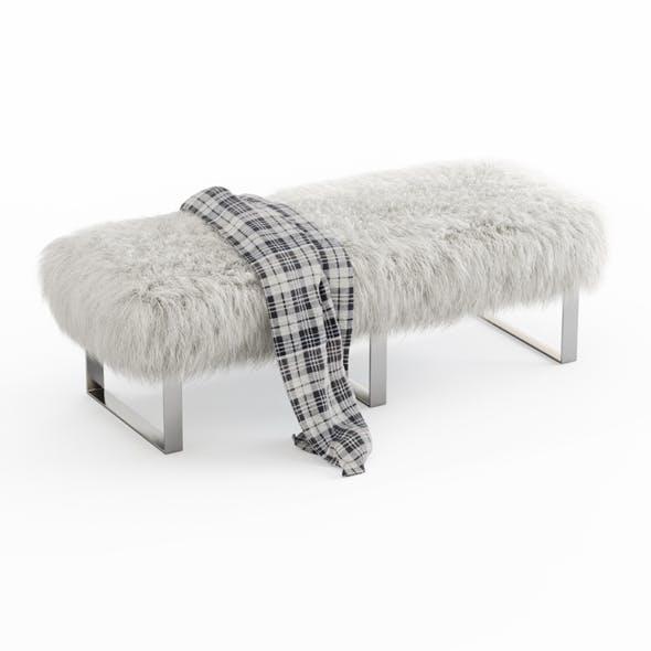 Mongolian Fur Bench 03