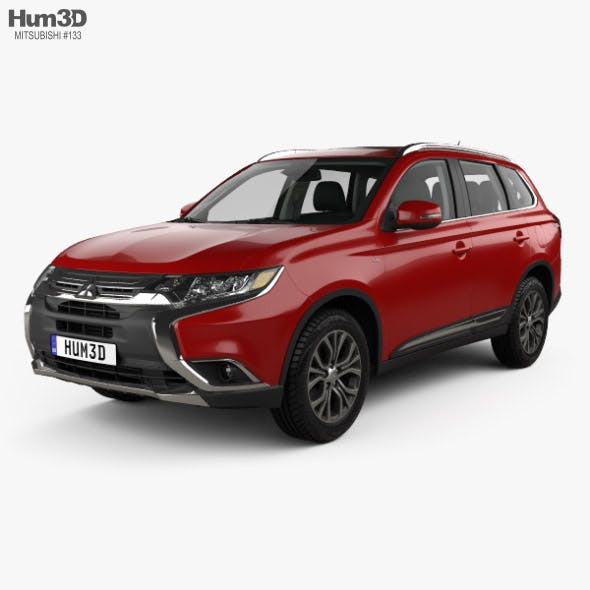 Mitsubishi Outlander GT with HQ interior 2015 - 3DOcean Item for Sale