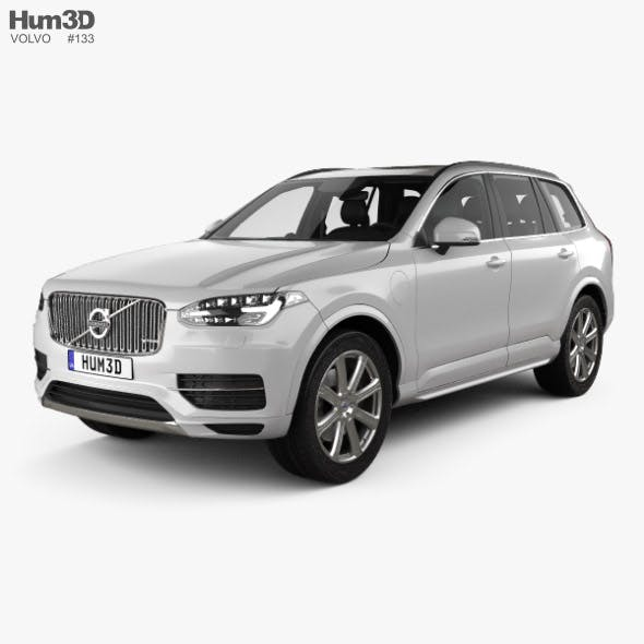 Volvo XC90 T8 with HQ interior and Engine 2015