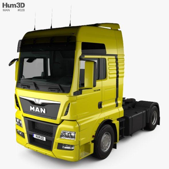 MAN TGX Tractor Truck 2-axle with HQ interior 2012