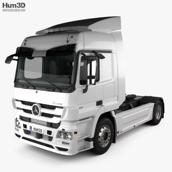 Mercedes-Benz Actros Tractor Truck 2-axle with HQ interior 2009 - 3DOcean Item for Sale