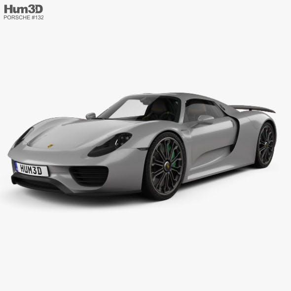 Porsche 918 spyder with HQ interior 2015