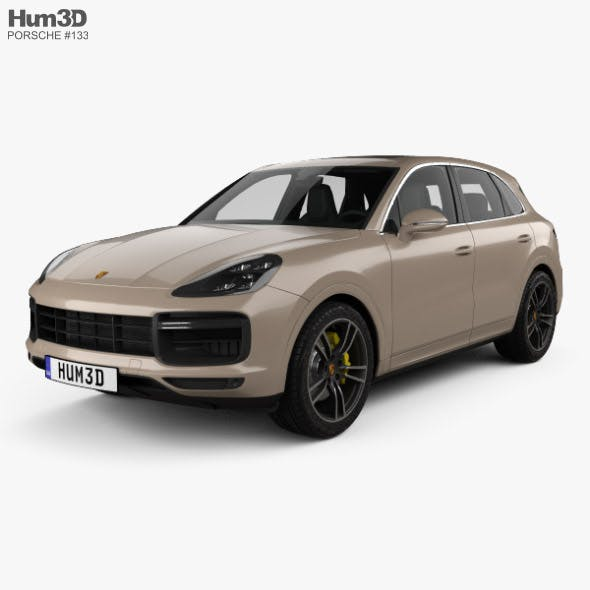 Porsche Cayenne Turbo with HQ interior 2017 - 3DOcean Item for Sale