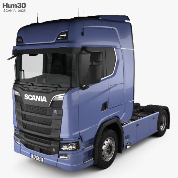 Scania S Highline Tractor Truck 2-axle with HQ interior 2016