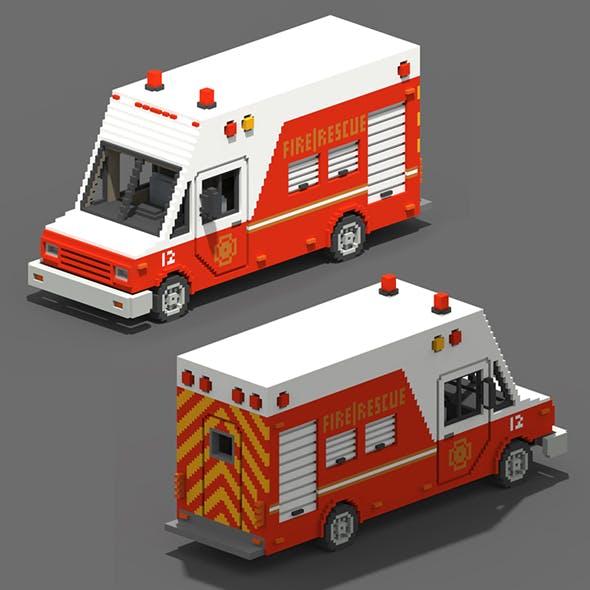 Voxel Fire Rescue Van