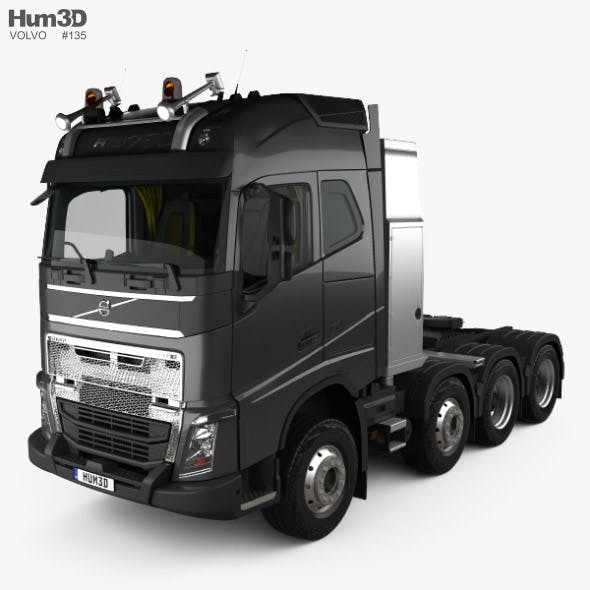 Volvo FH Globetrotter Cab Tractor Truck 4-axle with HQ interior 2014