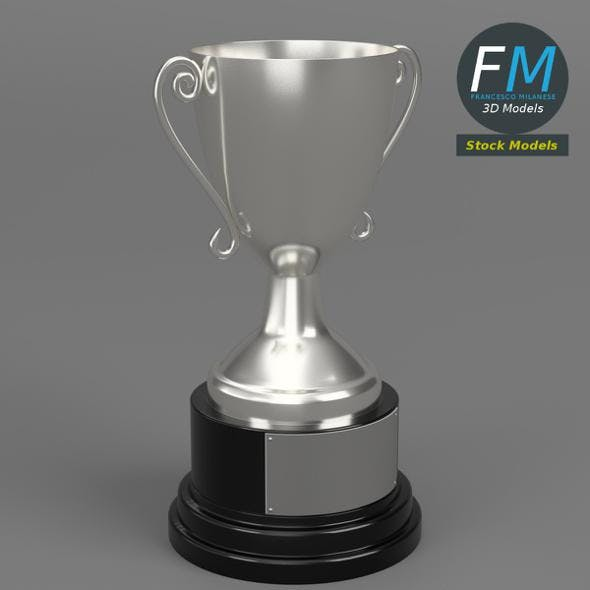 Silver trophy cup - 3DOcean Item for Sale