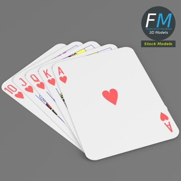 Heart royal flush - 3DOcean Item for Sale