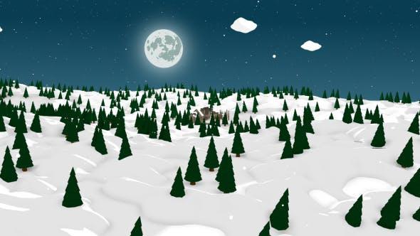 Cartoon Winter Forest Scene - 3DOcean Item for Sale