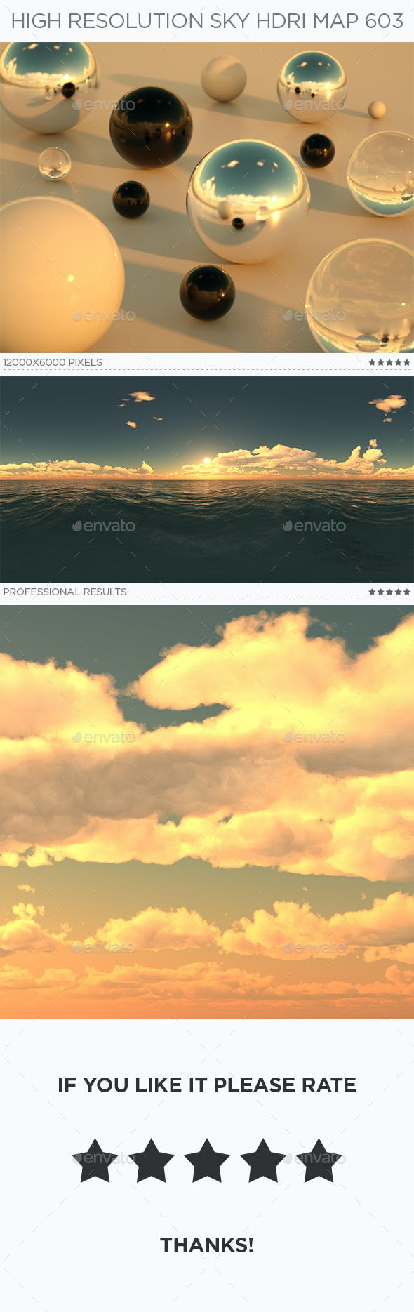 High Resolution Sky HDRi Map 603 - 3DOcean Item for Sale