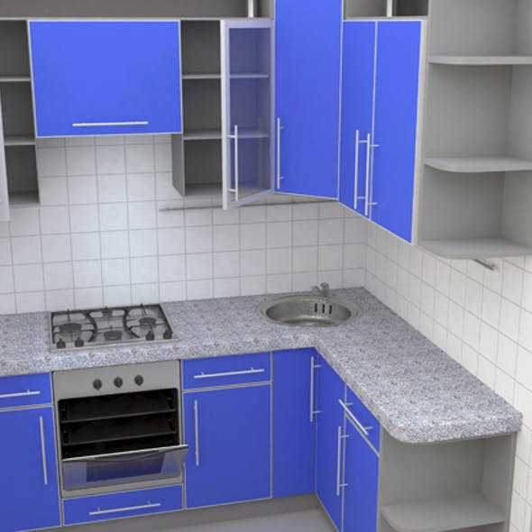 Kitchen wall corner