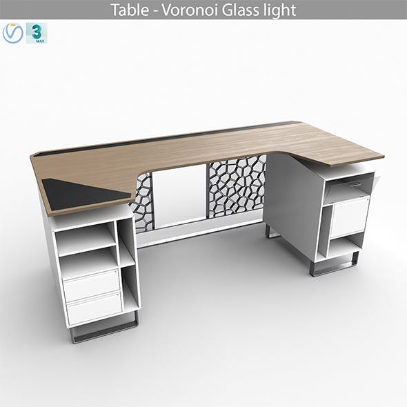 Table - Voronoi Glass light