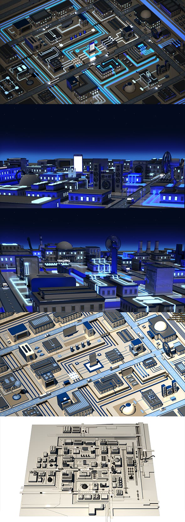 3D Megalopolis electronics - 3DOcean Item for Sale