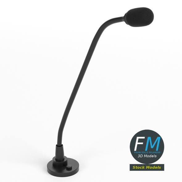 Podium microphone - 3DOcean Item for Sale