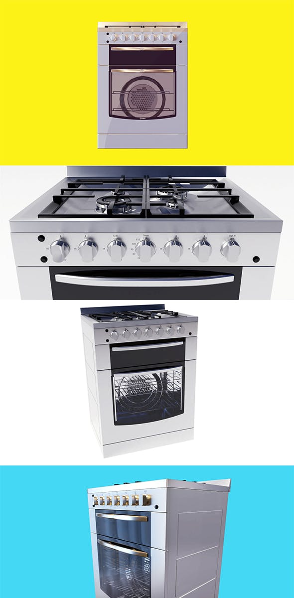 gas stove kitchenware and appliance - 3DOcean Item for Sale